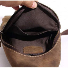 Load image into Gallery viewer, Top Grain Leather Single Strap Crossbody Sling Bag Premium Leather