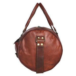 Top Grain Leather Sports Travel Duffel and Gym Bag Premium Leather
