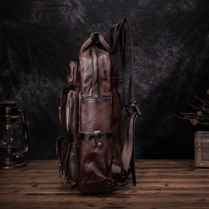Toute E'preuve Leather Travel/college Backpack Premium Leather