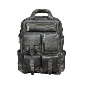 Toute E'preuve Leather Travel/college Backpack Grey Premium Leather