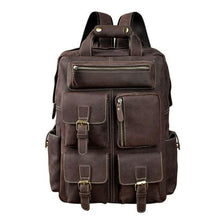 Load image into Gallery viewer, Toute E'preuve Leather Travel/college Backpack Brown Premium Leather