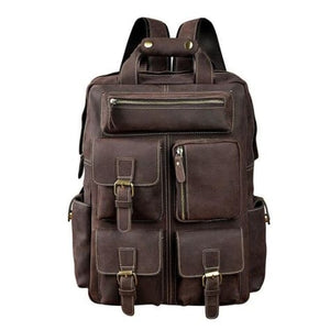 Toute E'preuve Leather Travel/college Backpack Brown Premium Leather