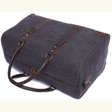 Load image into Gallery viewer, Travel Bag Canvas/leather Carry On With Shoe Compartment