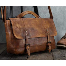 Load image into Gallery viewer, Trendy Handcrafted Leather Crossbody & Messenger Bag Coffee Premium Leather
