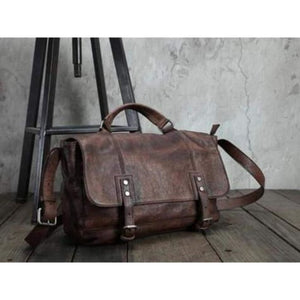 Trendy Handcrafted Leather Crossbody & Messenger Bag Vintage Brown Premium Leather