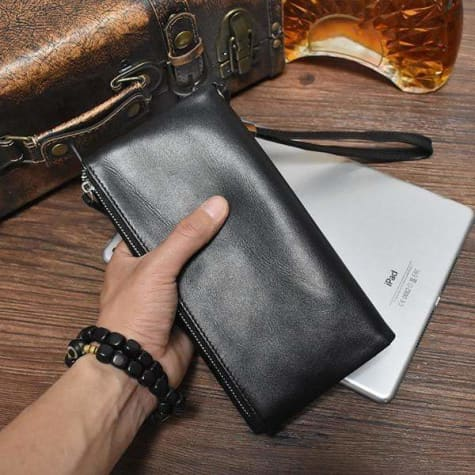 Trendy Leather Business Clutch/wallet & Wristlet Premium Leather