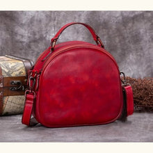Load image into Gallery viewer, Très Belle full Grain Leather Satchel/laptop/shoulder Bag Red Premium Leather