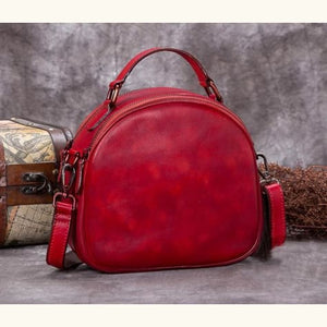 Très Belle full Grain Leather Satchel/laptop/shoulder Bag Red Premium Leather