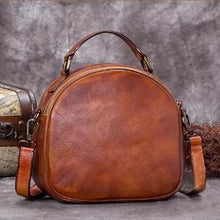 Load image into Gallery viewer, Très Belle full Grain Leather Satchel/laptop/shoulder Bag Brown Premium Leather
