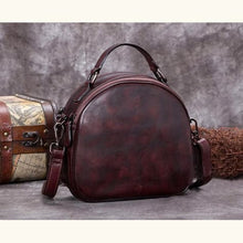 Load image into Gallery viewer, Très Belle full Grain Leather Satchel/laptop/shoulder Bag Coffee Premium Leather