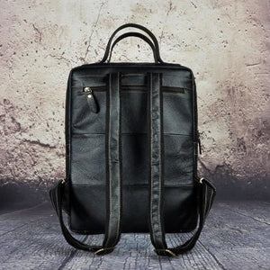 `tricolore full Grain Leather Backpack/travel Bag Premium Leather