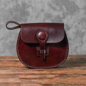 Vegetable Tanned Women's Leather Saddle Bag/shoulder Bag Coffee Premium Leather