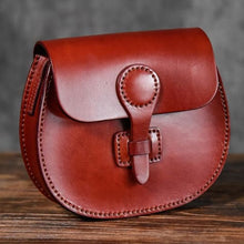 Load image into Gallery viewer, Vegetable Tanned Women's Leather Saddle Bag/shoulder Bag Red Premium Leather