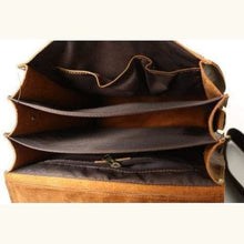 Load image into Gallery viewer, Vintage Brown Leather Backpack Messenger Bag with Shoulder Strap Premium Leather