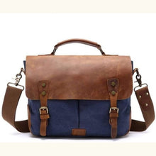 Load image into Gallery viewer, Vintage Canvas & Leather Backpack Travel Bag