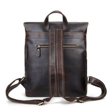 Load image into Gallery viewer, Vintage Crazy Horse Leather Backpack/multi-functional Unisex Backpack Premium Leather