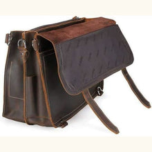 Load image into Gallery viewer, Vintage Crazy Horse Leather full Grain Briefcase/messenger Bag Premium Leather