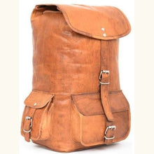 Load image into Gallery viewer, Vintage Goat Leather Classic Backpack