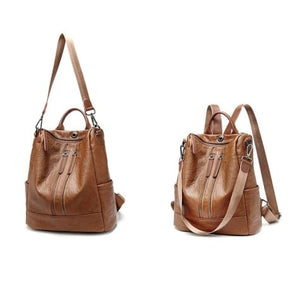 Vintage Leather Backpack / Daypack and Shoulder Bag Premium Leather