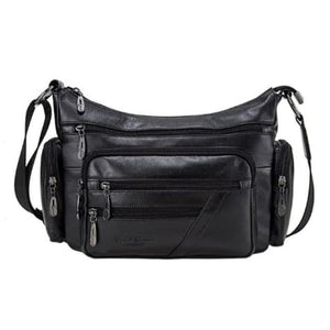 Vintage Leather Shoulder Bag for Women Black Premium Leather
