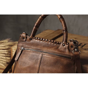 Vintage Women's Leather Messenger & Crossbody Bag Premium Leather