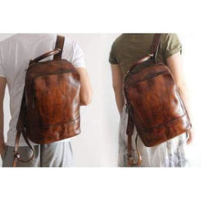 Load image into Gallery viewer, Vouge Whipping Leather Backpack