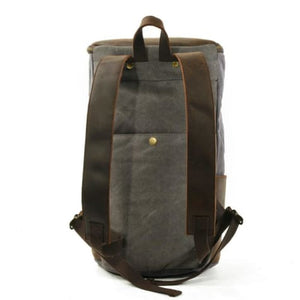 Waterproof Leather & Canvas Dslr Camera Backpack/shoulder Bag Premium Leather