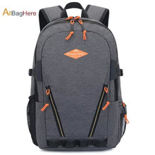 Load image into Gallery viewer, Waterproof Nylon Camping Travel Backpack Gray 2 Premium Leather