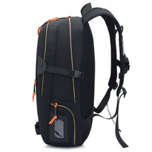 Load image into Gallery viewer, Waterproof Nylon Camping Travel Backpack Premium Leather