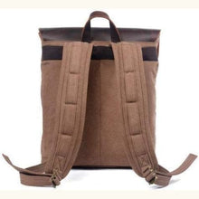 Load image into Gallery viewer, Waxed Canvas and Leather Backpack Premium Leather