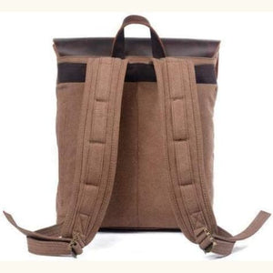 Waxed Canvas and Leather Backpack Premium Leather