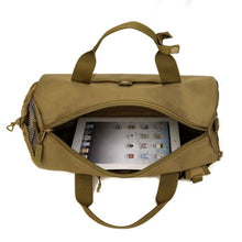 Load image into Gallery viewer, Wear Resistant Ripstop Nylon Cylinder Duffel Bag Premium Leather