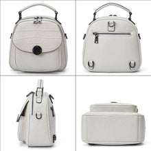 Load image into Gallery viewer, White Classic Leather Backpack/ Shoulder Bag Premium Leather