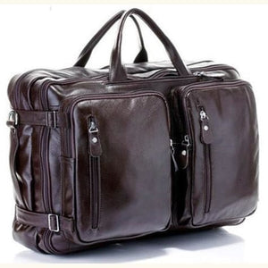 Willow Multi-function full Grain Leather Travel Bag Brown Size Xl Premium Leather