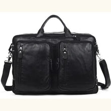 Load image into Gallery viewer, Willow Multi-function full Grain Leather Travel Bag Black Size Xl Premium Leather