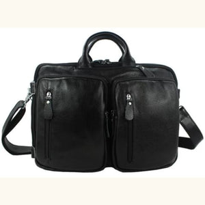 Willow Multi-function full Grain Leather Travel Bag Black Size L Premium Leather