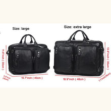 Load image into Gallery viewer, Willow Multi-function full Grain Leather Travel Bag Premium Leather