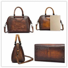Load image into Gallery viewer, Woman's Leather Vintage Valise Premium Leather