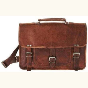 Women's 9 Goat Leather Mini Briefcase Premium Leather
