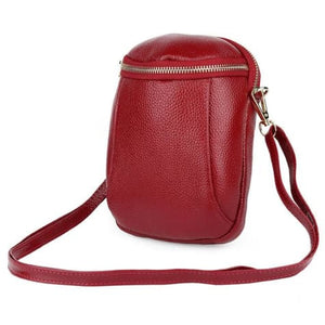 Women's Authentic Leather Crossbody Hip Bag Burgandy Premium Leather