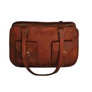 Women's Classic Leather Briefcase/business Satchel Premium Leather
