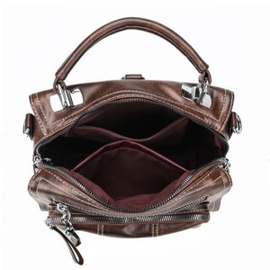 Women's Leather Backpack over Shoulder Travel Premium Leather