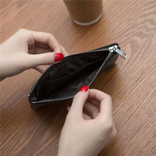 Load image into Gallery viewer, Women's Leather Simple thin Zipper Wallet Premium Leather