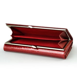 Women's Luxury Patent Leather Clutch Purse Premium Leather