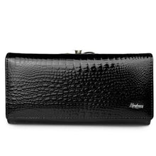 Load image into Gallery viewer, Women's Luxury Patent Leather Clutch Purse Black Premium Leather