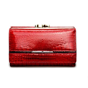 Women's True Leather Wallet and Clutch Purse Premium Leather