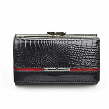 Load image into Gallery viewer, Women's True Leather Wallet and Clutch Purse Black Premium Leather