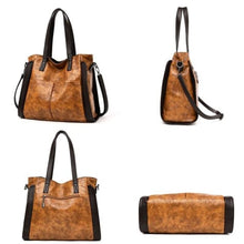 Load image into Gallery viewer, Wood Etched Women's Luxury Handbag Premium Leather