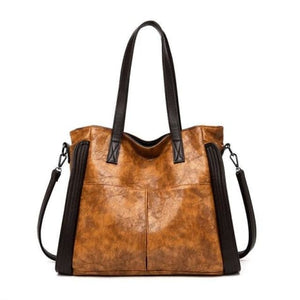 Wood Etched Women's Luxury Handbag Premium Leather