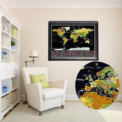decoration planisphere a gratter
